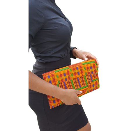 African Kente Print Clutch Purse ()