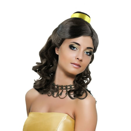 Princess Belle Wig Long Curly Wave Hair with Ribbon for Cosplay Costume Party Dress Up Halloween (Dark Brown)](Nicki Minaj Wig For Sale)