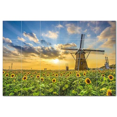 Windmill Ceramic Tile Mural Kitchen Backsplash Bathroom Shower 401936