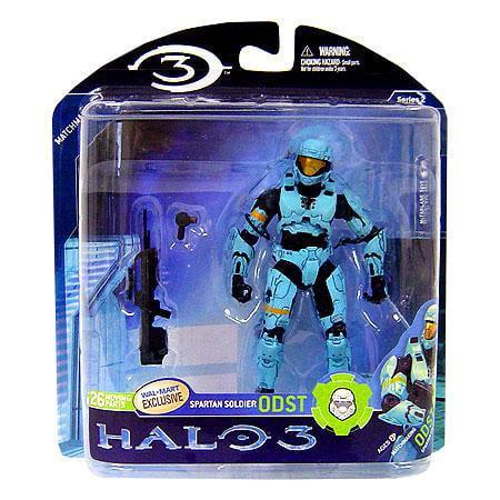 McFarlane Halo Series 2 Spartan Soldier ODST Action Figure [Light Blue]