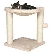 Trixie Pet Products Baza Scratching Post with Hammock, Cream