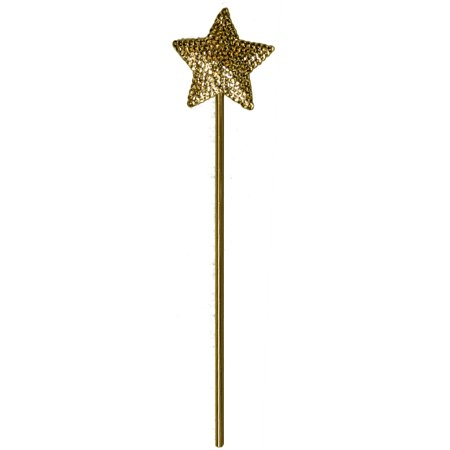 Jacobson Hat Company Ladies Sparkly Star Wand (Gold) - Sparkly Top Hats