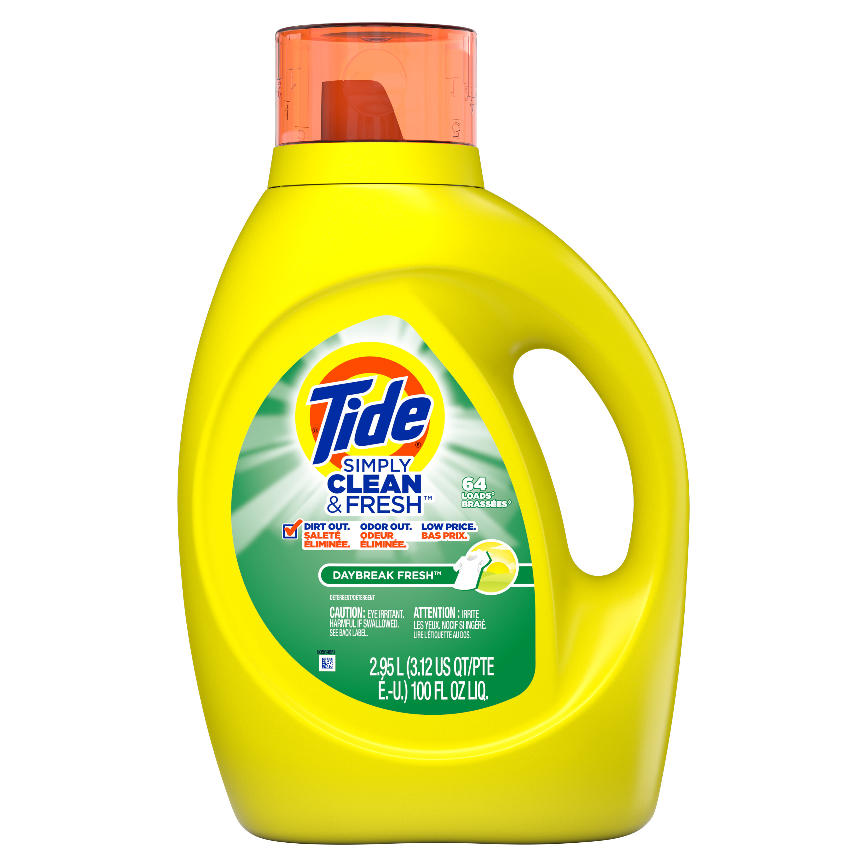 Tide Simply Clean & Fresh HE Liquid Laundry Detergent, Daybreak Fresh Scent, 64 Loads 100 Oz