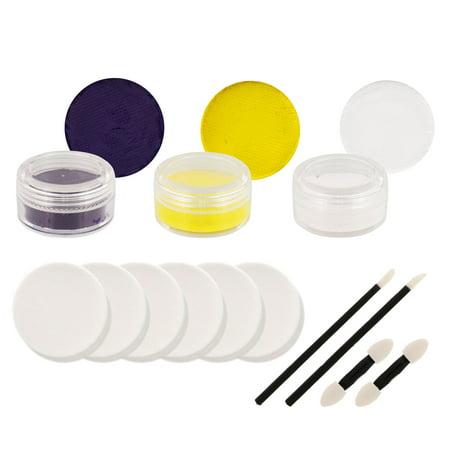 VIKINGS Football FACE PAINTING SET Fan Makeup Paint Kit - Zipper Face Makeup Kit
