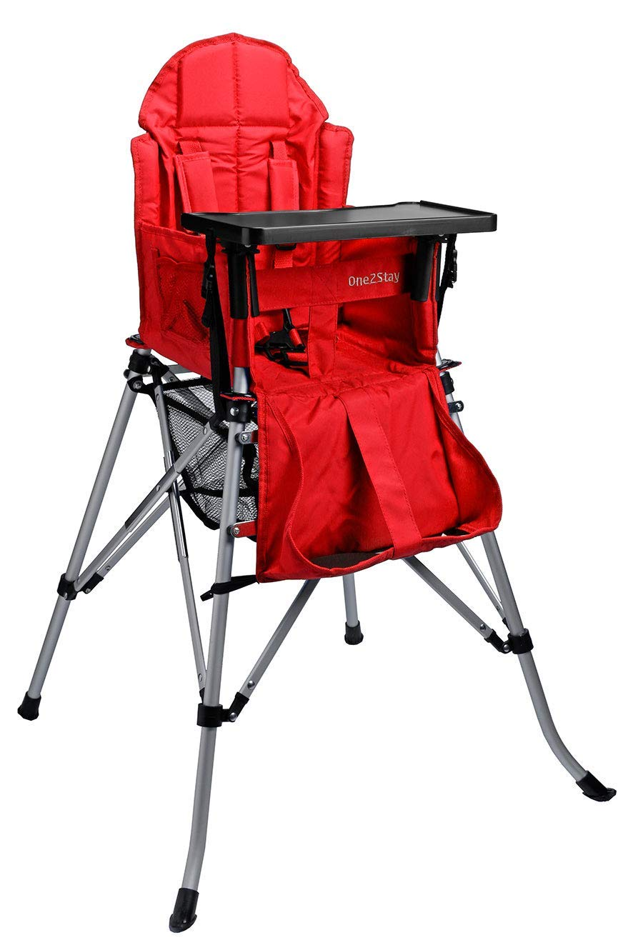 One2Stay Portable Travel High Chair with an Adjustable Backrest (6-36 Months) Comfortable Foldable Baby... by One2Stay