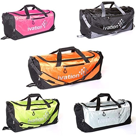 Ivation Sports Gym Duffel Bag 100% Water Repellent Polyester Ideal for Gym Fitness Camping Track Traveling & More Bright Yellow/Lime - image 6 de 7