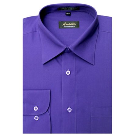 Amanti cl1005 20x34 35 amanti mens wrinkle free solid for 20 34 35 dress shirts