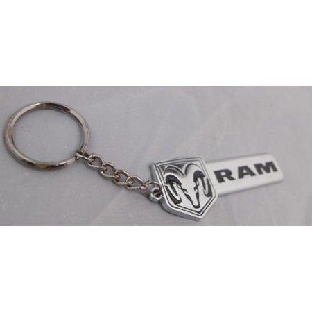 H-A-Motorsports 131388739287 Dodge Ram 3d Bowtie Logo Metal Key Chain Keychain Ring Badge Accessory Chrome