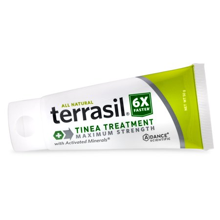 - Terrasil® Tinea Treatment MAX Strength with All-Natural Activated Minerals® for Quick Relief of Tinea Fungal Infections 6X Faster (50gm tube size)