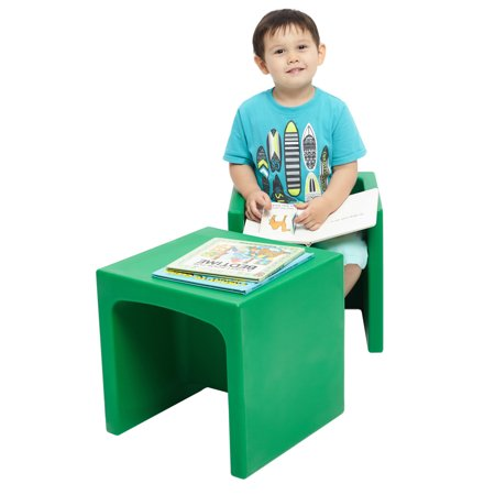 Ecr4kids School Stack Chair (ECR4Kids Convertible 3-in1 Cube Chair for Toddlers, Portable Plastic Play)