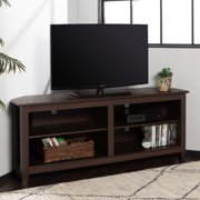 """Walker Edison Corner TV Stand Console for TVs up to 64"""", Espresso"""