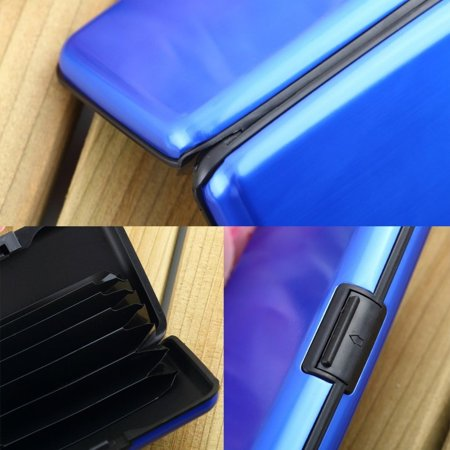 HC-TOP Waterproof Business ID Credit Card Wallet Holder Aluminum Metal Case Box - image 1 of 6