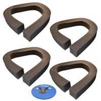 HQRP 4-pack Foam Window Air Conditioner Weatherstrip / Insulating Strip Seal, 2 1/8-Inch x 2 1/8-Inch x 43-Inch + HQRP Coaster