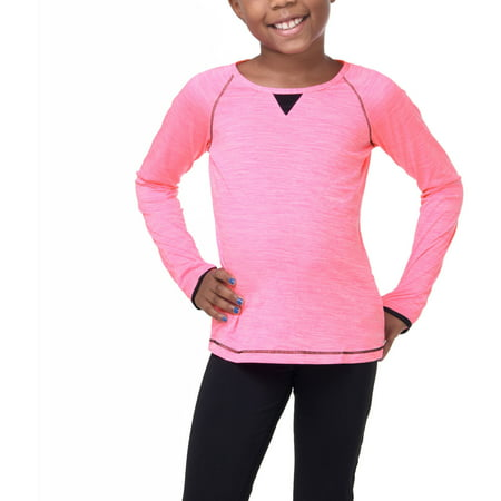 Girls Active Long Sleeve Melange Tee](Online Stores For Girls)