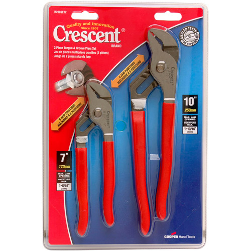 Apex Tool Group Tools Tongue-and-Groove Pliers, 2-Piece Set, R200SET2