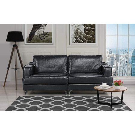 Ultra Modern Plush Leather Living Room Sofa - Ultra Modern Sofas