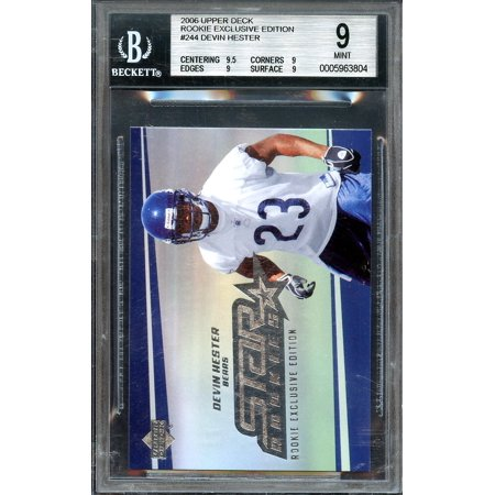2006 upper deck rookie exclusive edition #244 DEVIN HESTER rookie BGS 9.5 9 9 (Devin Hester Jersey)