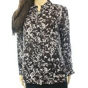 Classiques Entier NEW Brown Women Size PXS Petite Button Down Silk Top