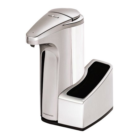 (simplehuman 13 fl. oz. sensor soap pump with caddy brushed nickel)