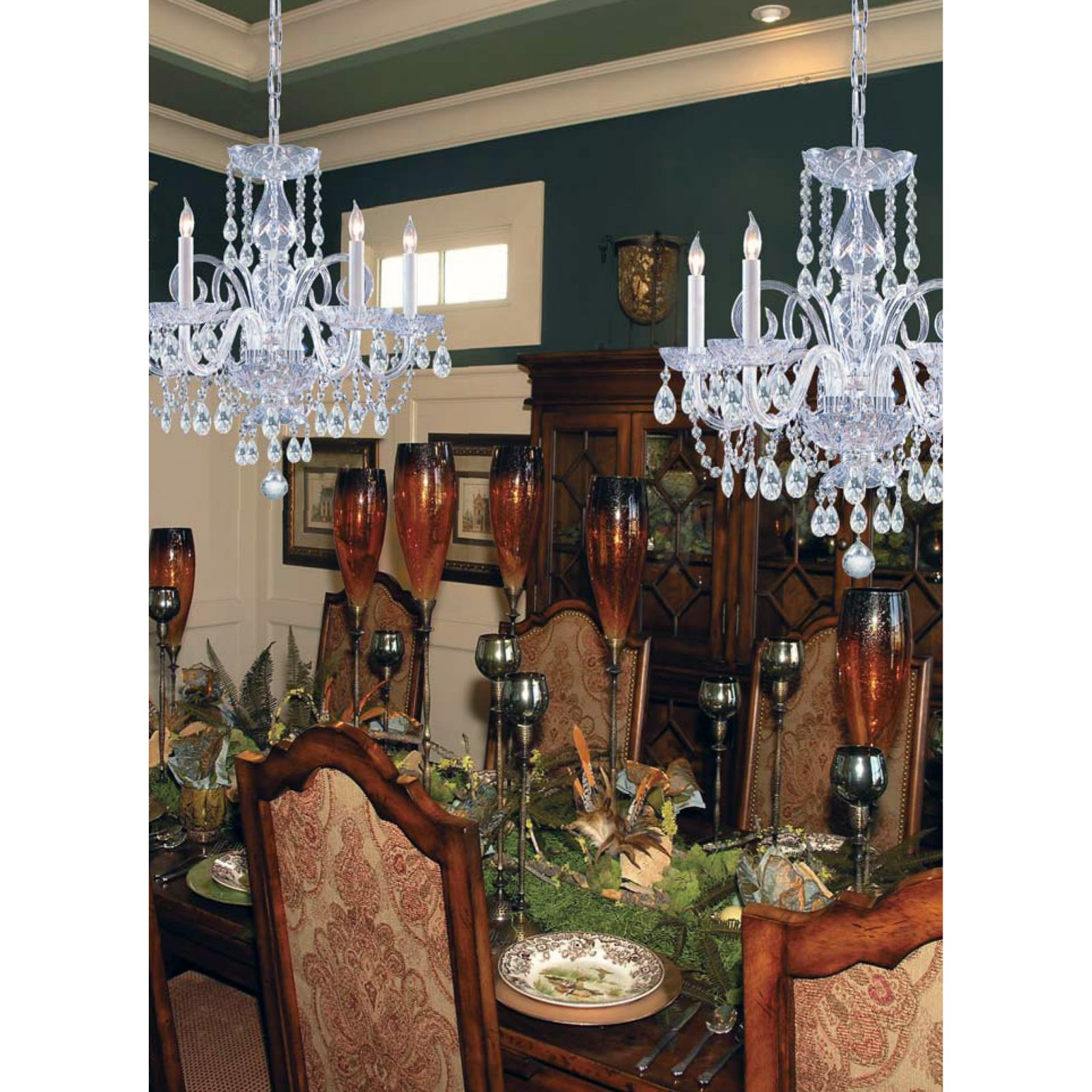 Crystorama 1005-CH-CL-MWP Traditional Crystal Chandelier 22W in. by Crystorama