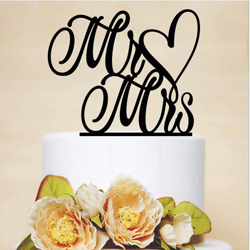 Wedding Cake Topper Bride & Groom Party Favors Decoration Valentine's Day Decoration