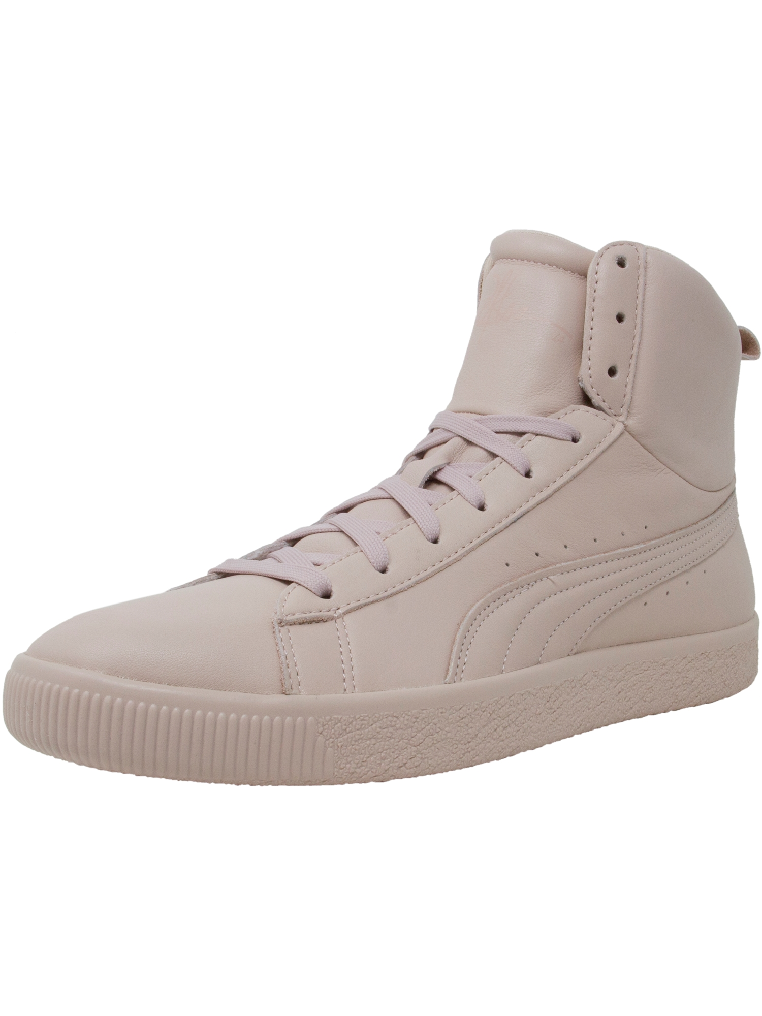 Puma Men's Clyde Mid Y And R Rose Smoke Ankle-High Leather Fashion Sneaker - 11M