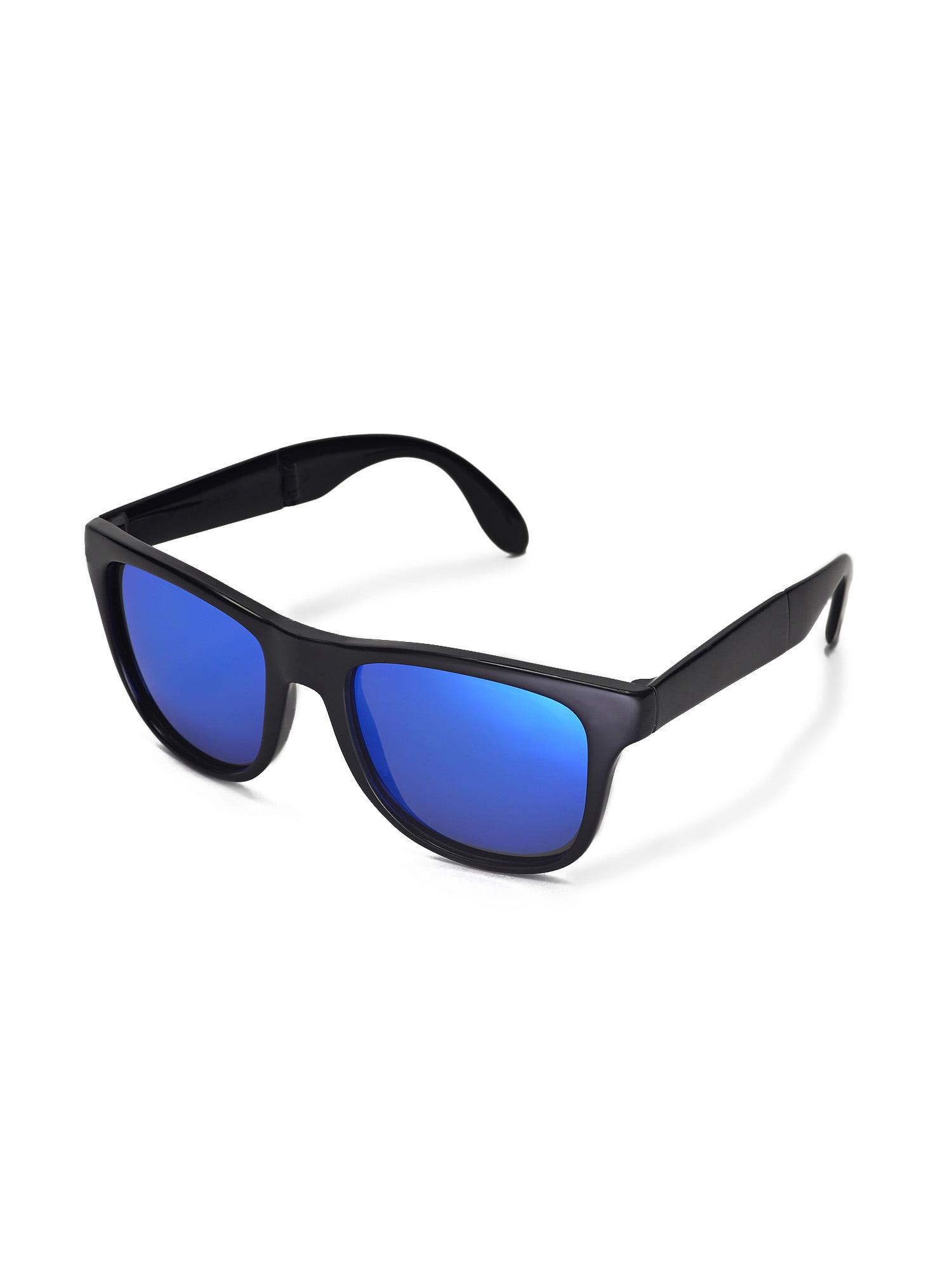 70ded66138 Walleva - Walleva Ice Blue Polarized Replacement Lenses for Ray-Ban  Wayfarer RB4105 54mm Sunglasses - Walmart.com