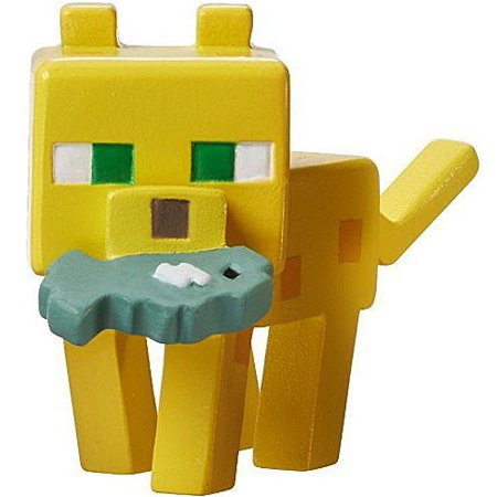 Minecraft Ice Series 5 Ocelot with Fish Mini - Minecraft Ocelot