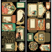 """Enchanted Forest Cardstock Die-Cuts, 6"""" x 12"""" Sheets, 2pk, Tags and Pockets"""