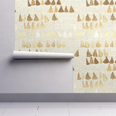 Peel-and-Stick Removable Wallpaper Printed Tassels Textured Triangular Painterly (Tassel Wallpaper)