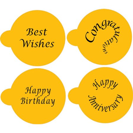 Designer Stencils Special Occasions Cupcake / Cookie Tops
