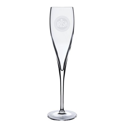 Irish Celtic Logo Deep Etched Luigi Bormioli 6 oz Titanium Toast Glass ()