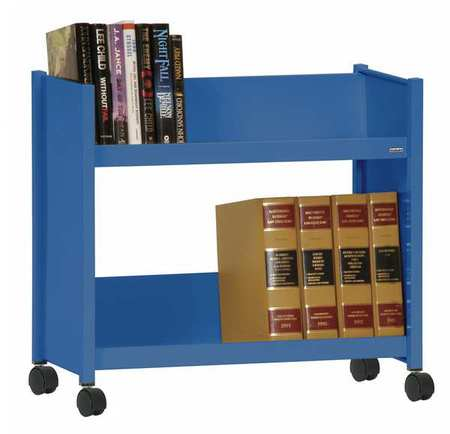 SANDUSKY LEE SR227-06 Book Truck, 24 1/2Hx28W In, 2 Shelves, Blue