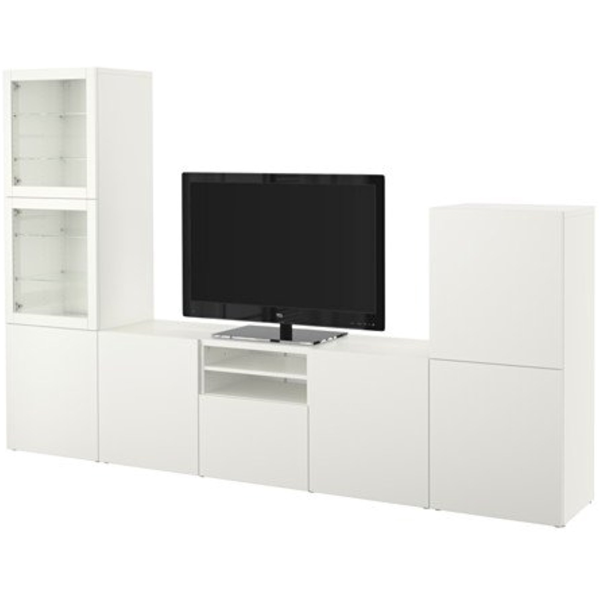 Ikea Tv Storage Combination With Soft Closing Doors And Drawers  # Meuble Tv Kaorka Ikea