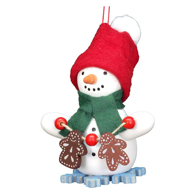 Christian Ulbricht Snowman with Gingerbread Cookies Ornament