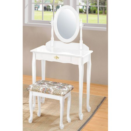 ACME Queen Anne Vanity Set, White