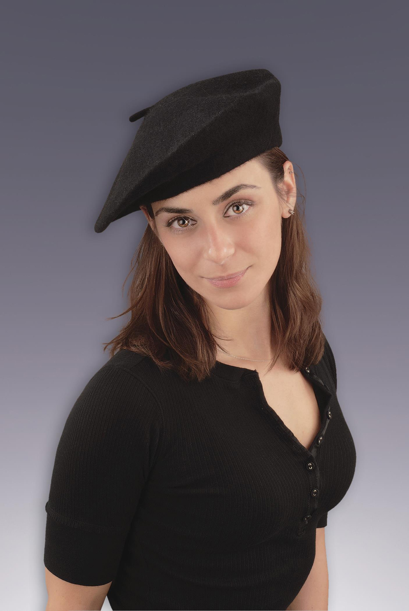 Black French Beret Adult Costume Hat dc69656df8ba