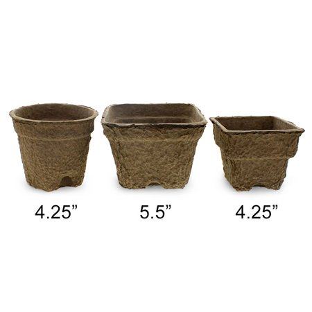 - Fiber Grow Pots - Environmentally friendly using recycled paper materials and...