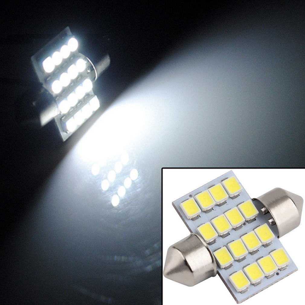 16 SMD LED 1210 31mm Interior Dome Festoon Bulb Vehicle Lamp Door Light SourceOn Sale