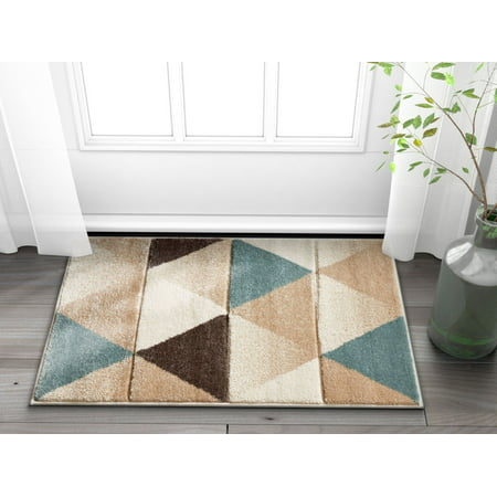 Well Woven Ruby Clark Mid-Century Modern Brown Geometric Triangles 2' x 3' Area Rug