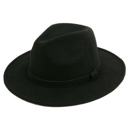 Classic Wide Brim Fedora Hat 516HF