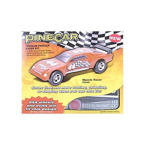 Pinecar Muscle Racer Premium Kit Multi-Colored