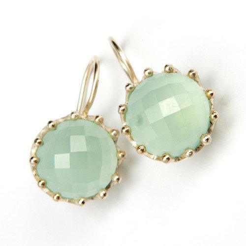 Sitara Jewelry Aquamarine Light Blue Sterling Silver Gemstone Earrings