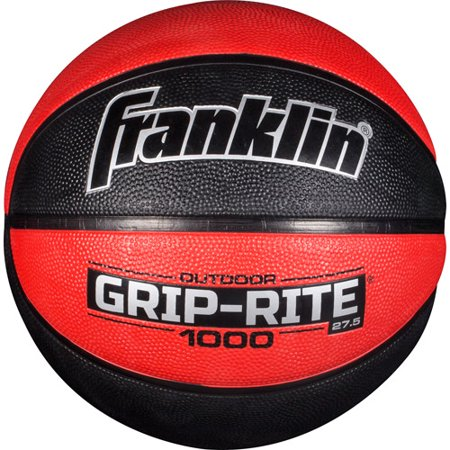 Franklin Sports 27 5  Grip Rite Rubber Basketball  Red
