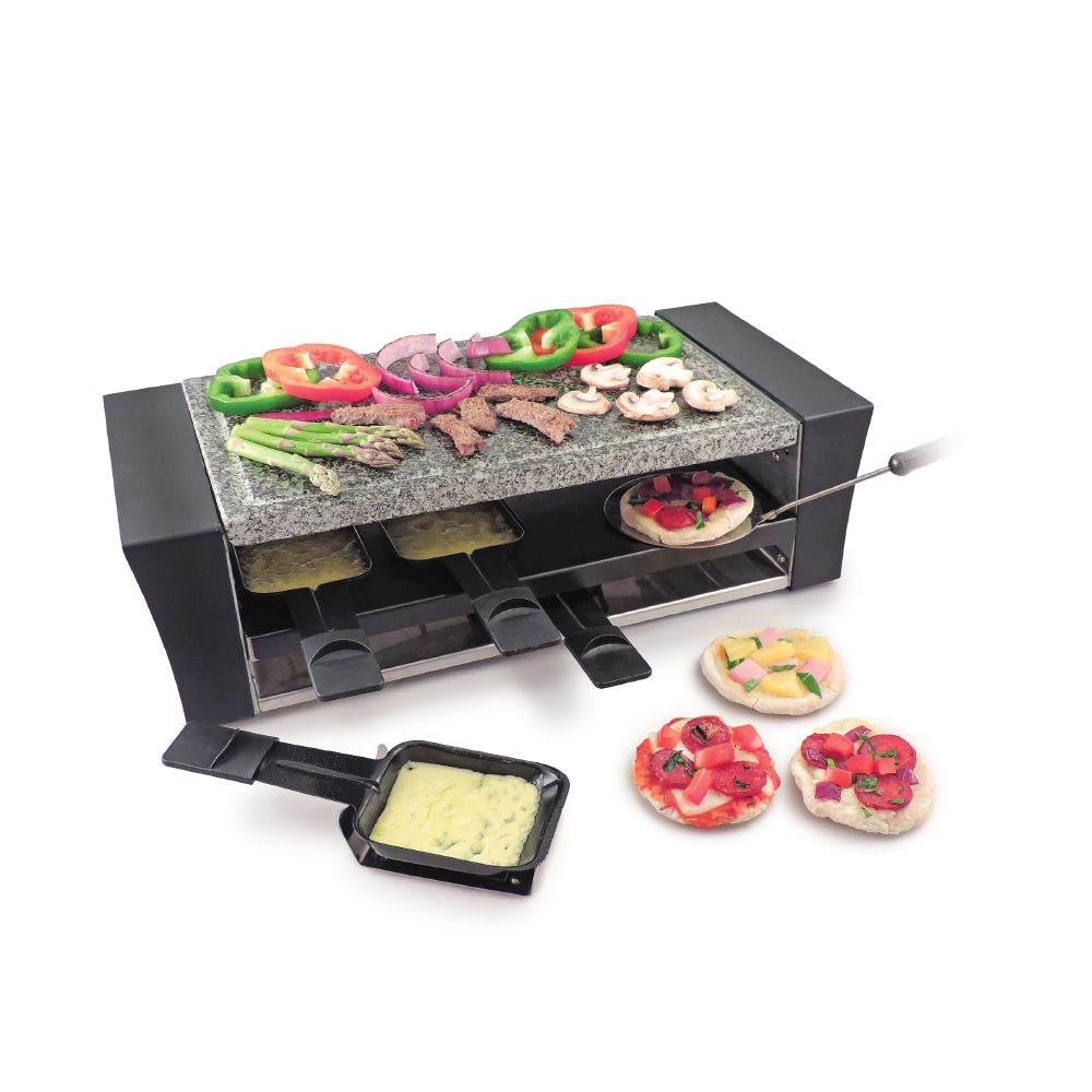 Swissmar 8 Person Locarno Pizza Raclette Grill w/Granite Stone