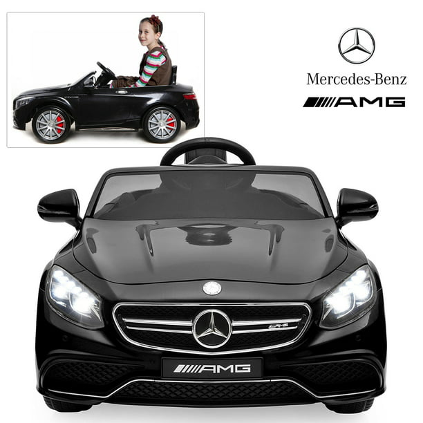 Official Licensed Mercedes Benz Ride On Car With Remote Control For Kids 12v Power Battery Amg S63 Kid Car To Drive With 2 4g Radio Parental Control Black Walmart Com Walmart Com