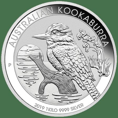 - 2019 Silver Kookaburra 1 KILO Coin