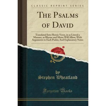 The Psalms Of David Paperback Walmart