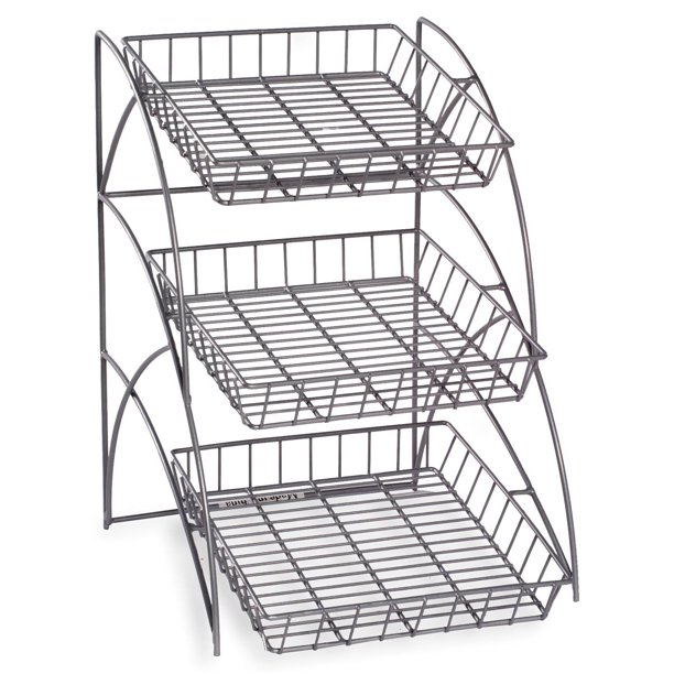 Wire Rack With 3 Display Shelves