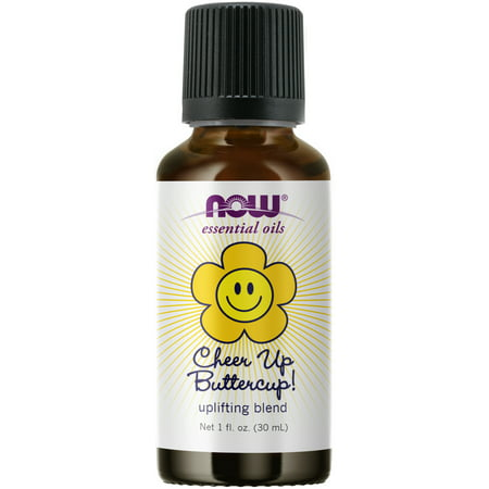 NOW Essential Oils, Cheer Up Buttercup! Oil Blend, Uplifting Aromatherapy Scent, Blend Pure Citrus Essential Oils, Vegan, Child Resistant Cap, 1-Ounce Oil Blend 180 Caps